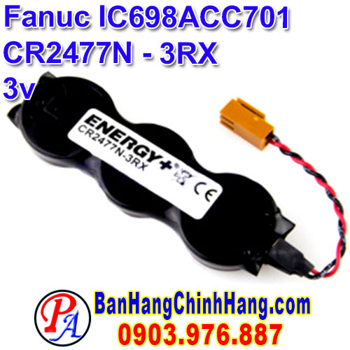 Fanuc IC698ACC701 CR2477N-3RX 3V Lithium Battery