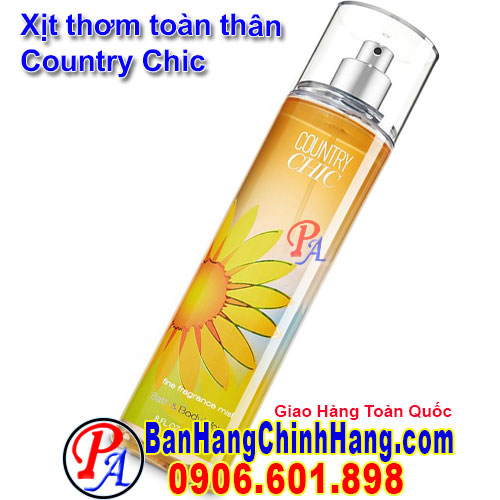 Xịt Thơm Toàn Thân Bath & Body Works Country Chic Fine Fragrance Mist