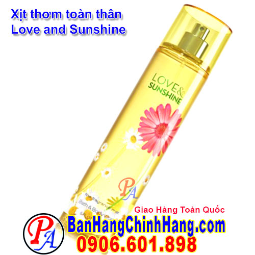 Xịt Thơm Toàn Thân Bath & Body Works Love And Sunshine Fine Fragrance Mist