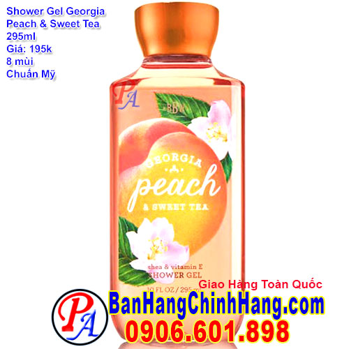 Gel Tắm Bath & Body Works Georgia Peach & Sweet Tea Shower Gel