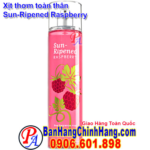 Xịt Thơm Toàn Thân Bath & Body Works Sun-Repened Raspberry Fine Fragrance Mist